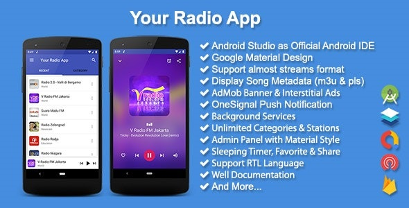 Your Radio App by solodroid | CodeCanyon