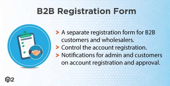 Magento 2 B2B Registration Form - CodeCanyon Item for Sale