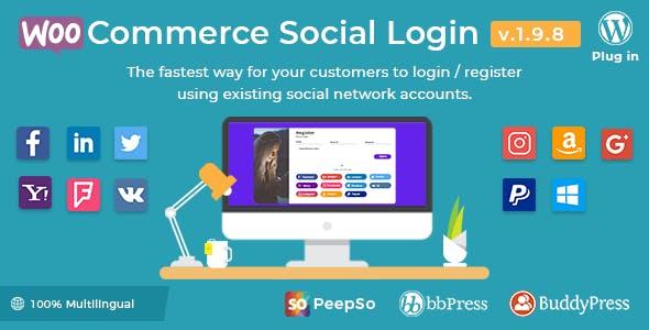 WooCommerce Social Login - WordPress Plugin        Nulled