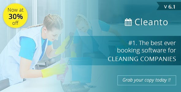 Cleanto - software with booking system for cleaner service companies        Nulled
