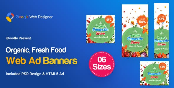 C45 - Organic, Fresh Food Banners GWD & PSD