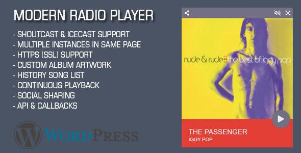 Modern Radio Player Wordpress Plugin