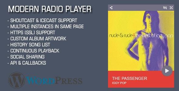 Modern Radio Player Wordpress Plugin - CodeCanyon Item for Sale