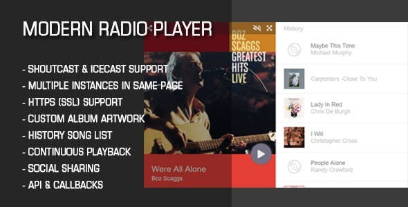 Modern Radio Player