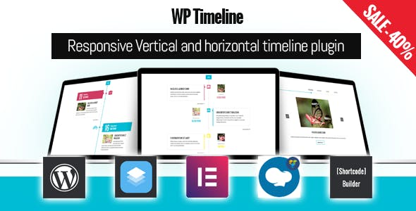 WP Timeline – Responsive Vertical and Horizontal timeline plugin        Nulled