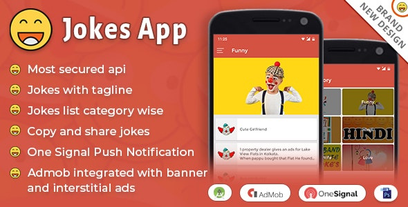 Android Jokes App (Funny, Comedy, Laughing App, Chutkule, Joke, humour, tagline, punchline) - CodeCanyon Item for Sale