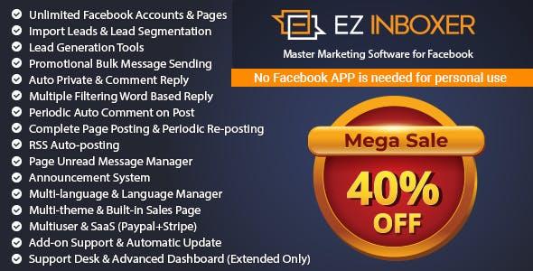 EZ Inboxer - Master Marketing Software for Facebook        Nulled