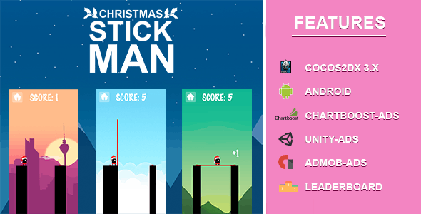 Stick Man -Cocos2dx IOS, Android