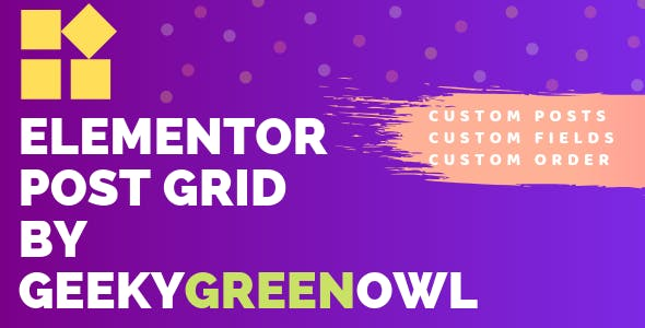 Elementor Post Grid by Geeky Green Owl - CodeCanyon Item for Sale