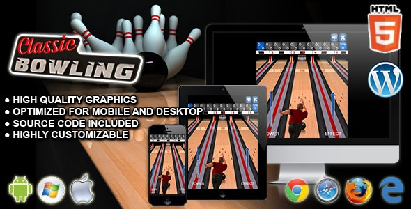 Classic Bowling - HTML5 Sport Game - CodeCanyon Item for Sale