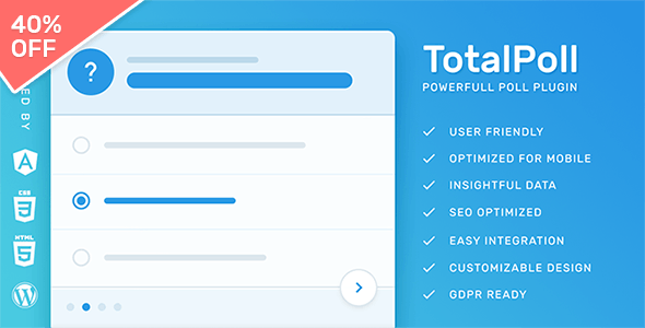TotalPoll Pro - Responsive WordPress Poll Plugin        Nulled