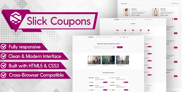Slick Theme for Coupons CMS - CodeCanyon Item for Sale