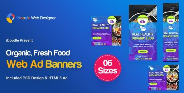 C46 - Organic, Fresh Food Banners GWD & PSD