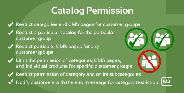 Catalog Permission Magento 2 Extension - CodeCanyon Item for Sale