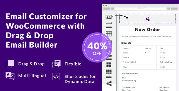 Email Customizer for WooCommerce with Drag and Drop Email Builder        Nulled