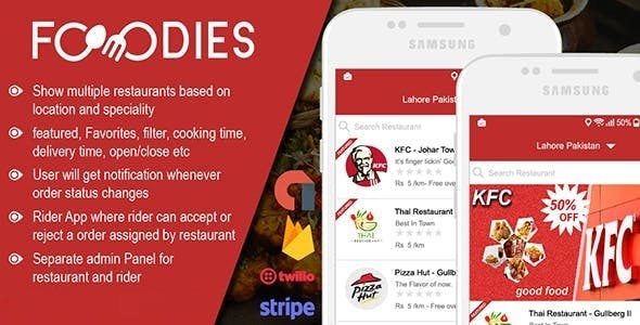 Native Restaurant Food Delivery & Ordering System With Delivery Boy - Android v2.0