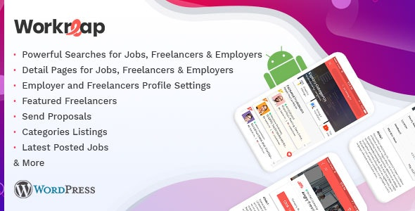 Workreap Android APP - WordPress Freelance Marketplace - CodeCanyon Item for Sale
