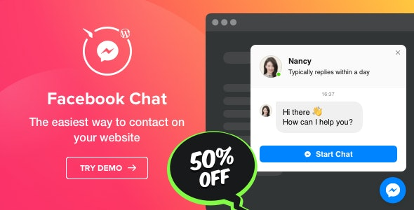 Facebook Chat - WordPress Facebook Messenger - CodeCanyon Item for Sale