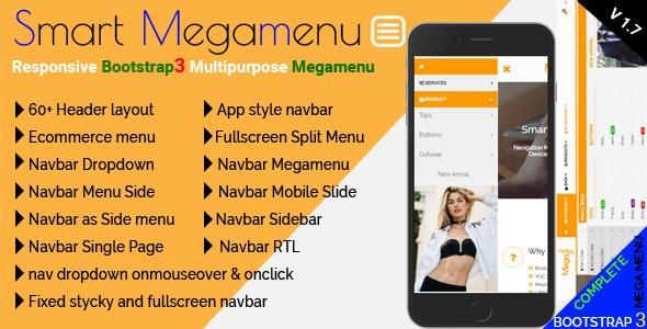 Smart Megamenu - Responsive Bootstrap3 Multipurpose Megamenu - CodeCanyon Item for Sale