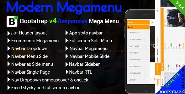 Modern Megamenu - Bootstrap 4 Responsive Mega Menu by mgscoder