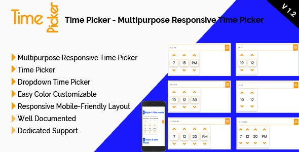 Time Picker - Multipurpose Responsive Time Picker