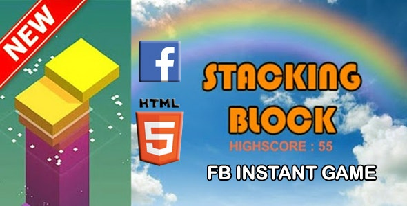 Stack Tower HTML5 GAME  + FB ADS + READY FOR PUBLISH - CodeCanyon Item for Sale