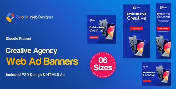 C51 - Creative, Startup Agency Banners HTML5 Ad - GWD & PSD