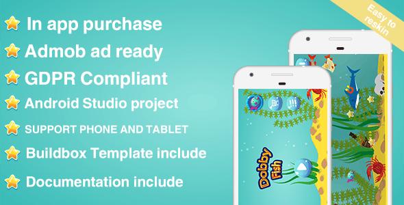 Dobby Fish - Ieaderboards + Admob + IAP + GDPR by Otiumapps | CodeCanyon