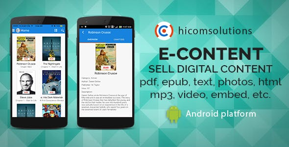 E-Content: sell your digital content - Android app