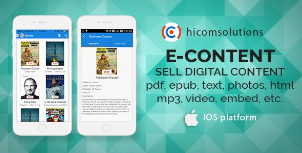 E-Content: sell your digital content - iOS App
