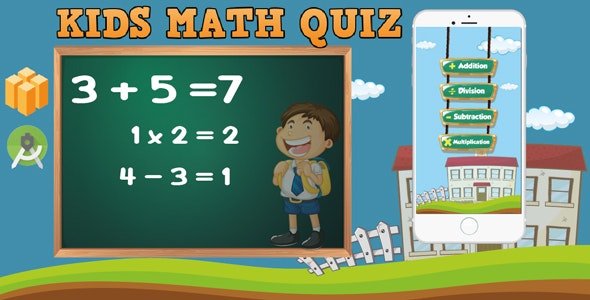 Kids Math Quiz (android studio- Admob + Buildbox 2.3.3 ) - CodeCanyon Item for Sale