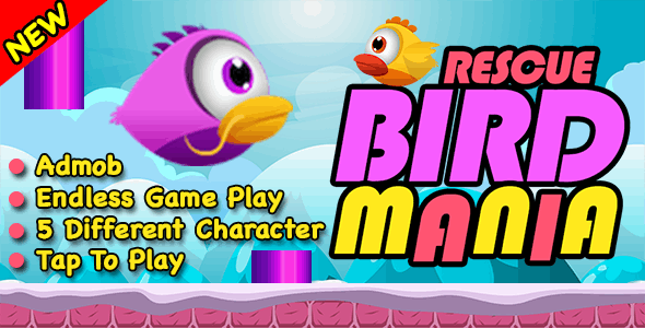 Rescue Bird Mania + Flappy Bird Endless Run + IOS