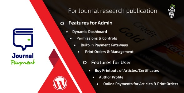 Journal Payment Wordpress Addon Plugin - CodeCanyon Item for Sale