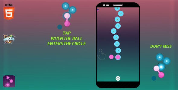 CIRCLE PATH Game - HTML5 Game + facebook instant game + ads