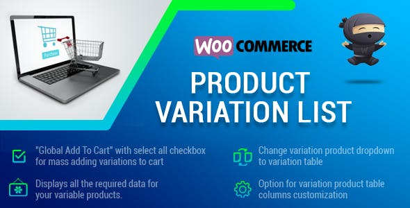 WooCommerce Product Variation List