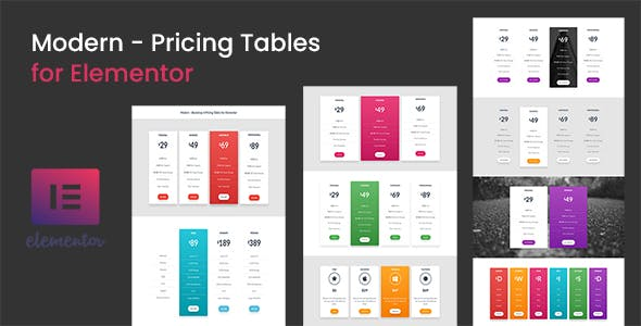 Modern - Pricing Tables for Elementor - CodeCanyon Item for Sale