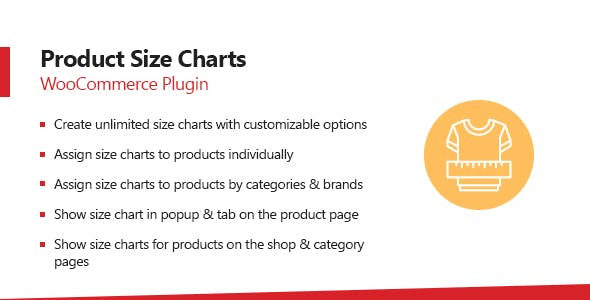 WooCommerce Product Size Charts Plugin