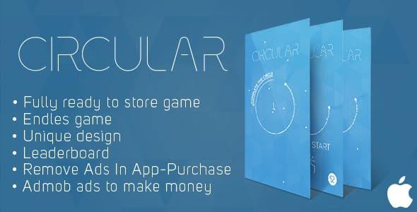 Circular (iOs) Fun Arcade Game Template + easy to reskine + AdMob