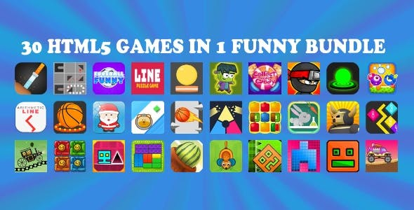 30 HTML5 GAMES IN 1 FUNNY BUNDLE + Mobile Version!!! FUNNY BUNDLE №1 (Construct 2 / CAPX)