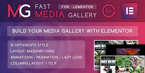 Fast Media Gallery For Elementor - WordPress Plugin