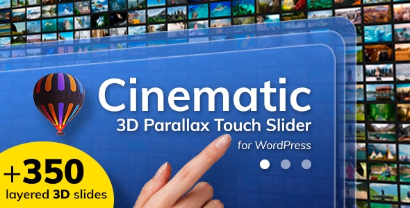 Cinematic 3D Parallax Touch Slider for WordPress v1.2 - CodeCanyon Item for Sale