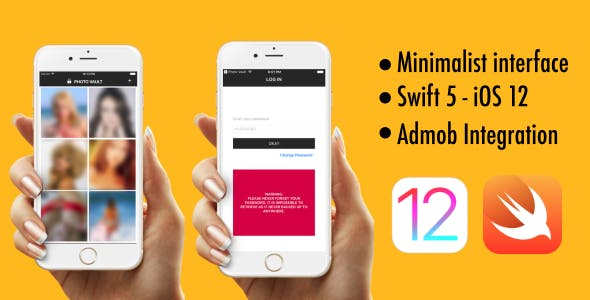 Photo Vault - Swift 5 - iOS 12 - AdMob