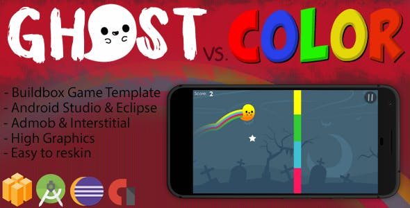 Ghost vs. Color - Xcode Project & Buildbox Game Template