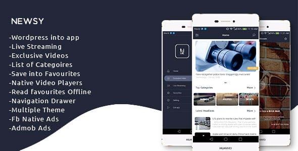 Newsy - Full Featured Native Wordpress App