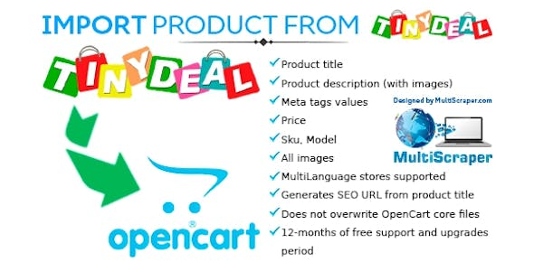 Import product from Tinydeal