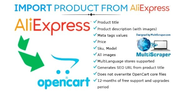 Get product from Aliexpress