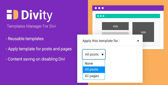 Divity - Templates manager for divi