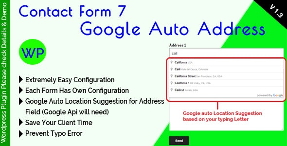 Contact Form 7 Google Auto Address Suggestion by mgscoder | CodeCanyon