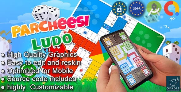 Parcheesi Ludo (Android studio + Admob + GDPR) - CodeCanyon Item for Sale