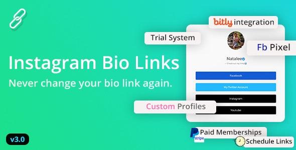 BioLinks - Boost Instagram Bio Linking by AltumCode | CodeCanyon